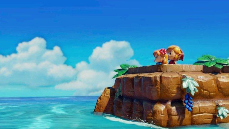 Link and Marin Overlooking Ocean