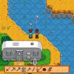 Two Characters Fishing in Stardew Valley
