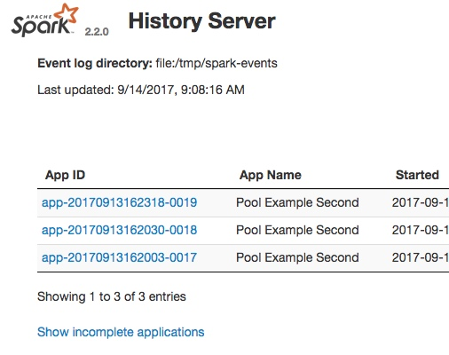 Spark Tutorial Perf Metrics with History Server