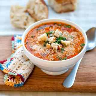 Hearty, budget friendly and healthy, minestrone soup is perfect for a warming lunch or dinner. Make a big batch and use my easy freezer hack to store.