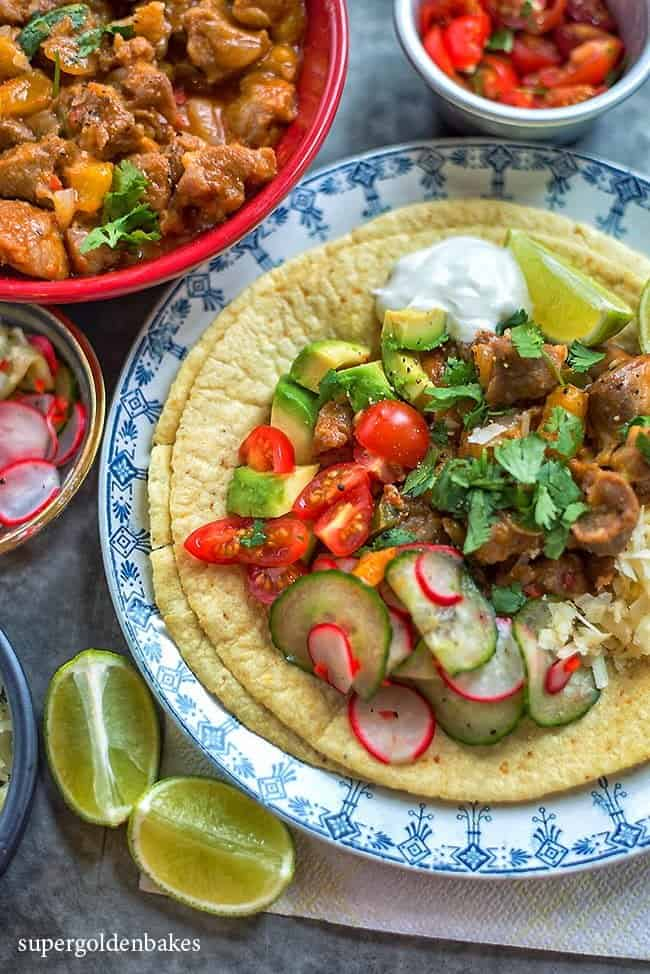 Spicy Korean pork tacos – a fusion recipe that really works!