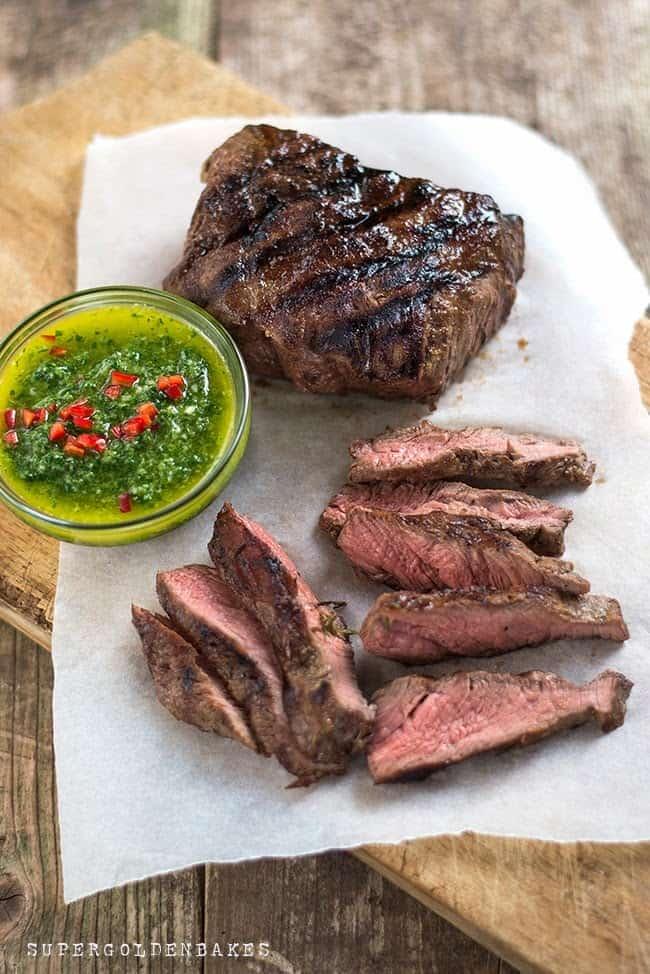 Supergolden Bakes: Steak with chimichurri sauce