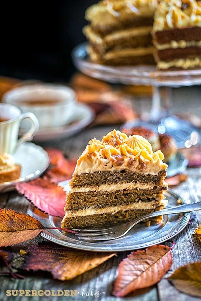 Supergolden Bakes: Perfectly Autumnal Pumpkin Praline Cake