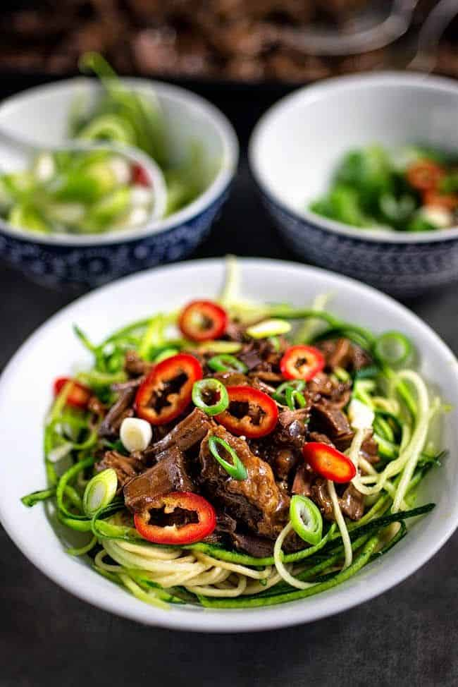 Slow cooker Chinese Pulled Beef