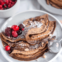 Chocolate crêpes with Nutella and mixed berries