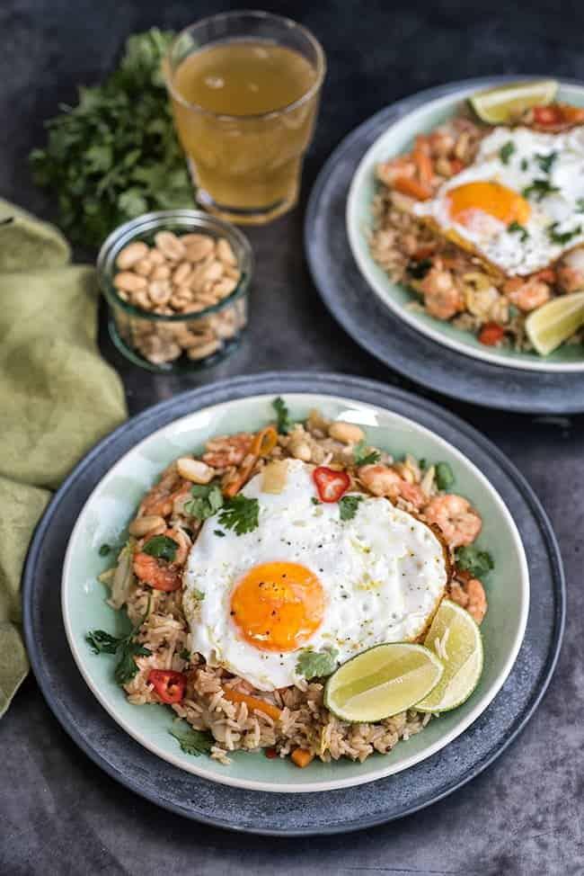 Indonesian Fried Rice – Nasi Goreng with Prawns
