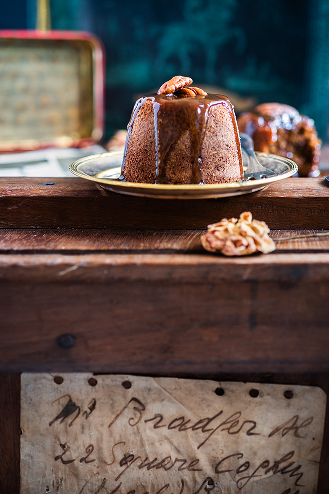 The ultimate dessert – these date and ginger toffee puddings smothered with brandy toffee sauce are totally irresistible!