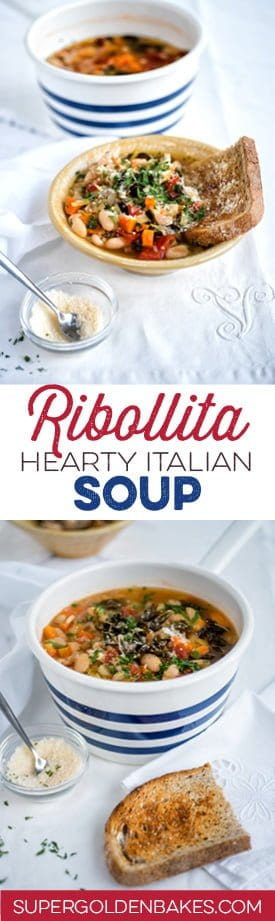 Ribollita is a hearty Tuscan vegetable soup that is made extra filling by the addition of slightly stale bread.