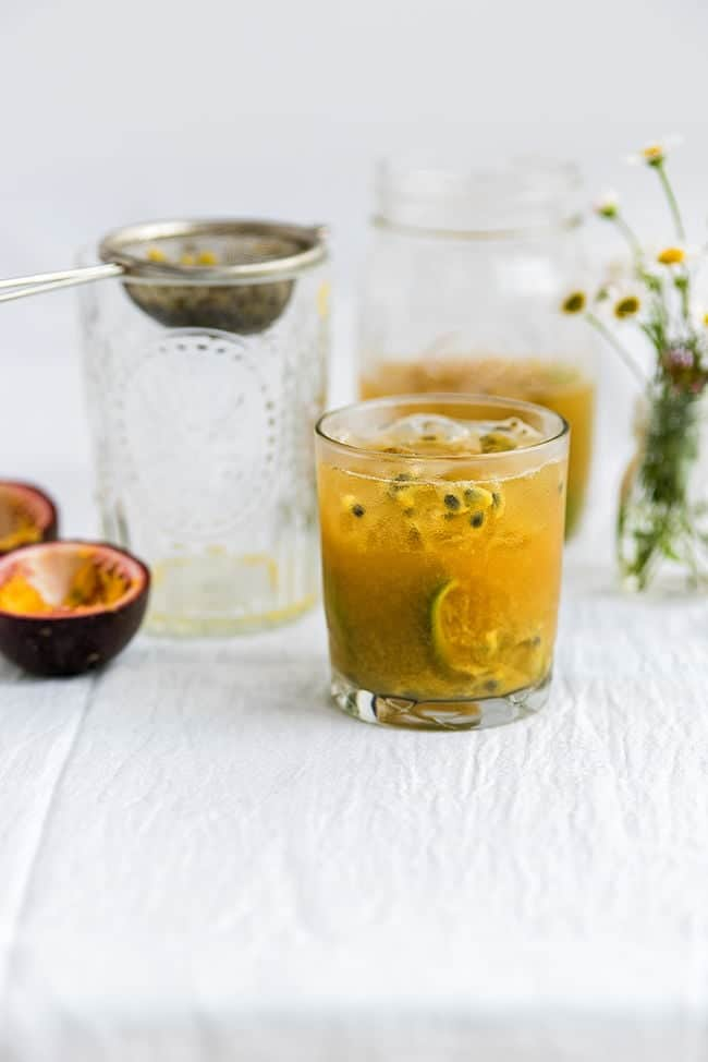 Passion Fruit Caipirinha - a refreshingly tangy cocktail perfect for the summer.