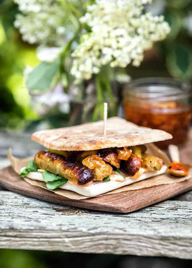 Curried Chicken & Mango Chipolata Sandwiches