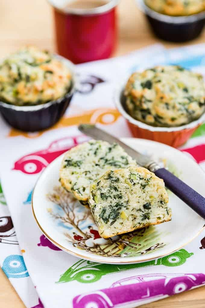 Spinach and feta (spanakopita) savoury muffins