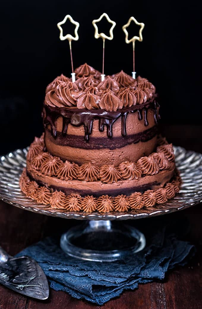 Chocolate Pinata Cake with Chocolate, Chestnut and Mascarpone frosting.
