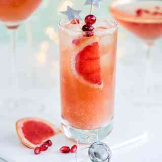 Ring in the new year with a Sparkling Paloma and French Kiss cocktails. Cheers!