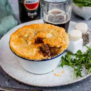 Beef and mushroom pot pies with thyme crust