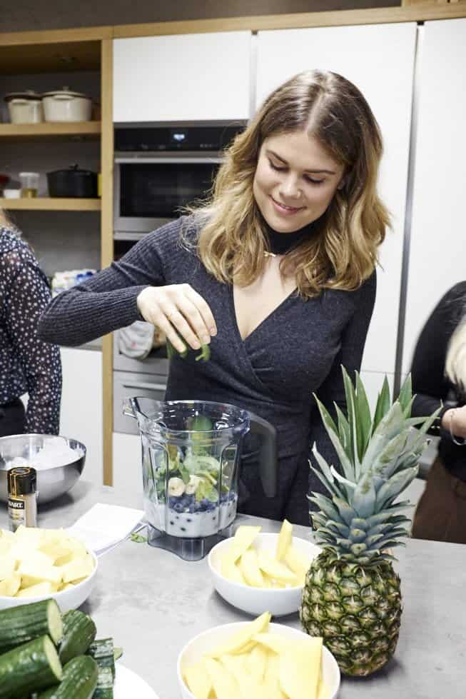 Madeleine Shaw at the John Lewis smoothie event