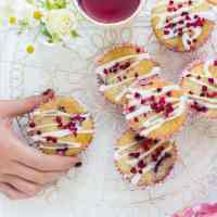 Super-easy raspberry and white chocolate muffins