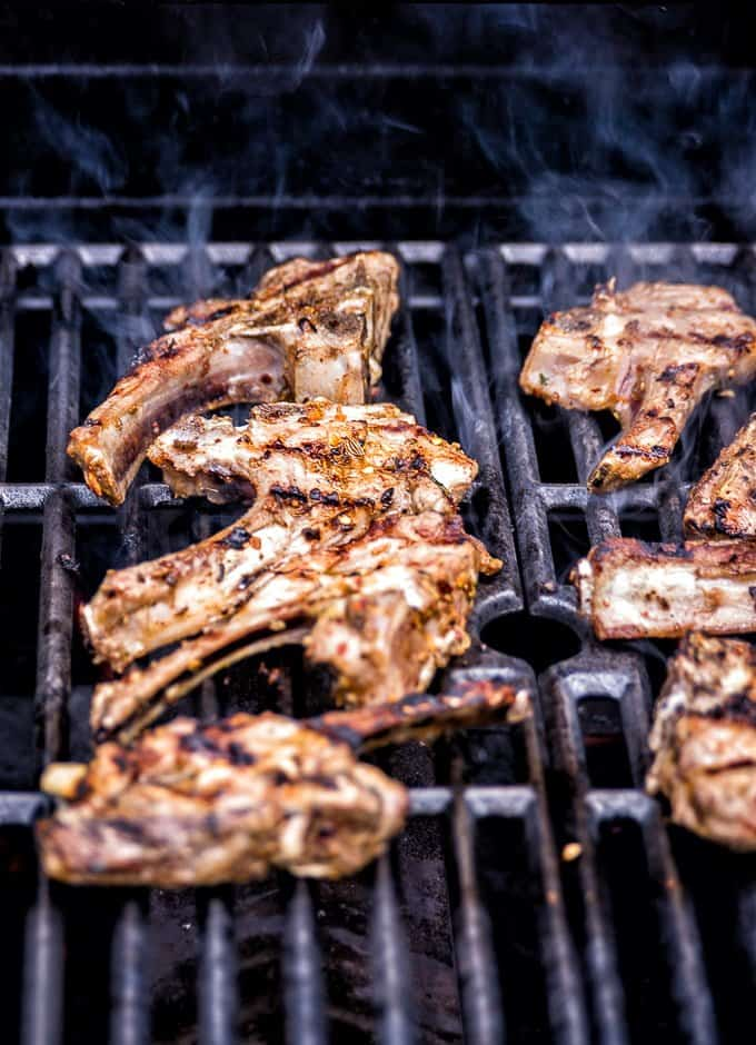 Grilled Greek lamb chops