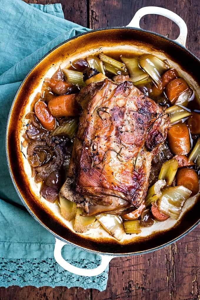 Slow-roasted shoulder of lamb   Supergolden Bakes