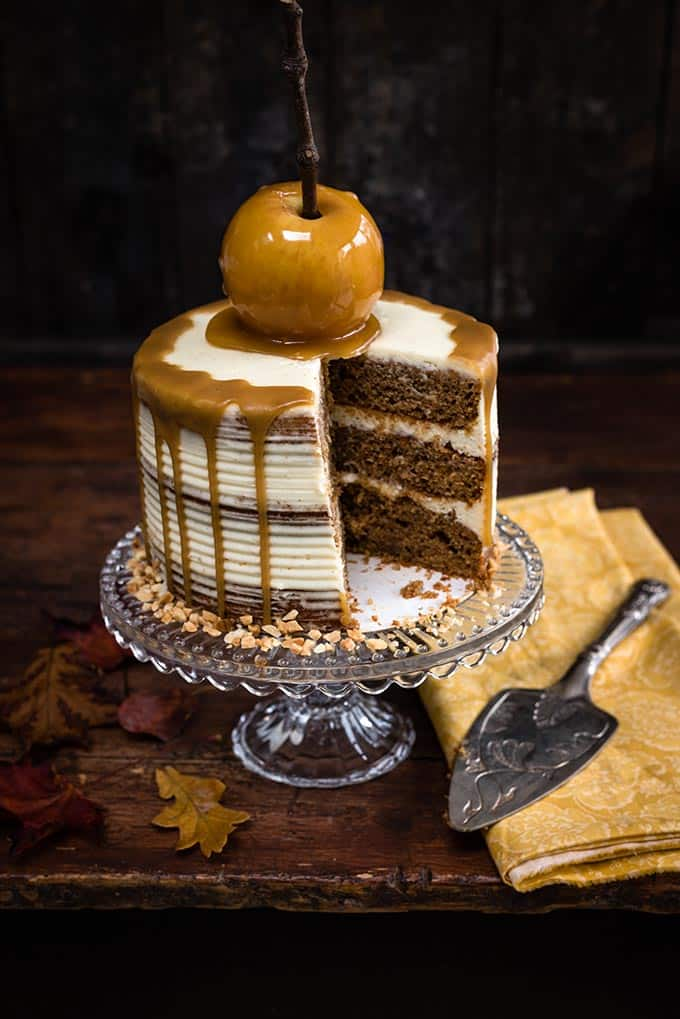 Spiced apple layer cake with mascarpone frosting | Supergolden Bakes