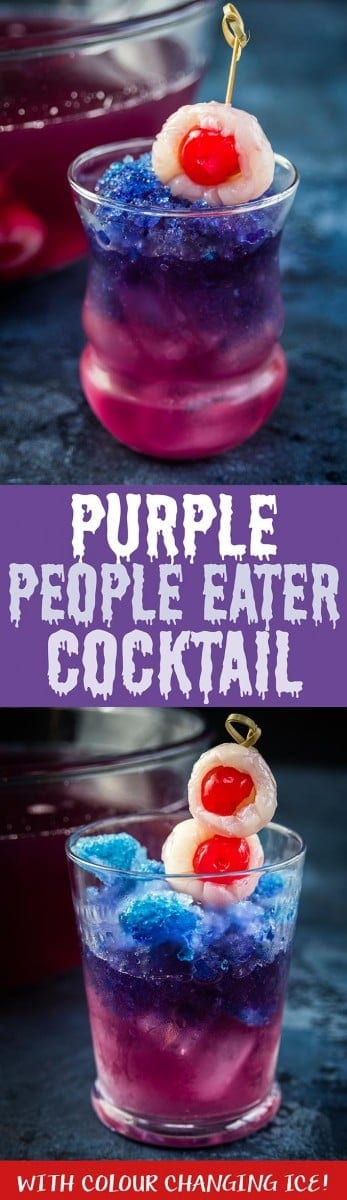 Prepare to be spooked by the Purple People Eater colour changing Halloween cocktail! Featuring a natural ingredient with magical colour changing properties.