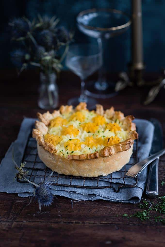 Haggis pie with potato and swede mash topping. Perfect for celebrating St Andrew's Day or Burns night and a hearty winter meal in its own right. #haggis