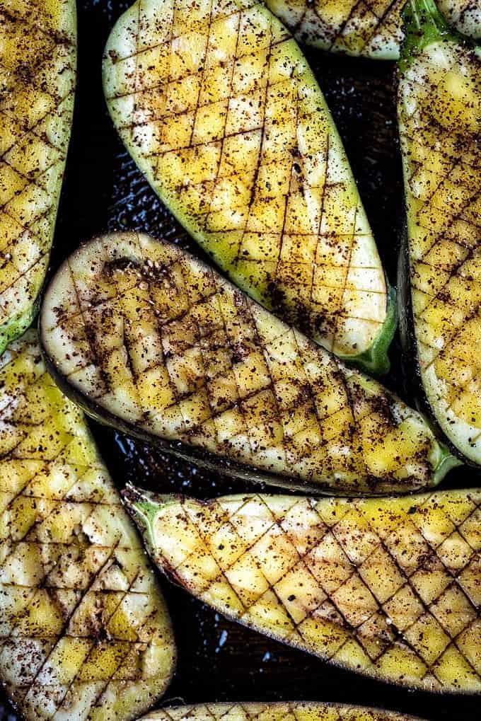 Sumac roasted eggplants
