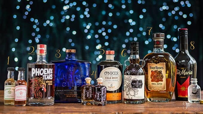 A selection of spirits suitable for Christmas gifting