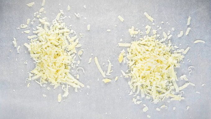 Making Grana Padano crisps - step 1