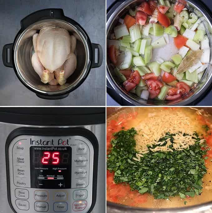 How to make Italian chicken soup in a pressure cooker (instant pot)