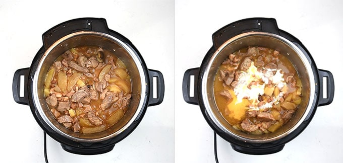 Making pork casserole in an Instant Pot