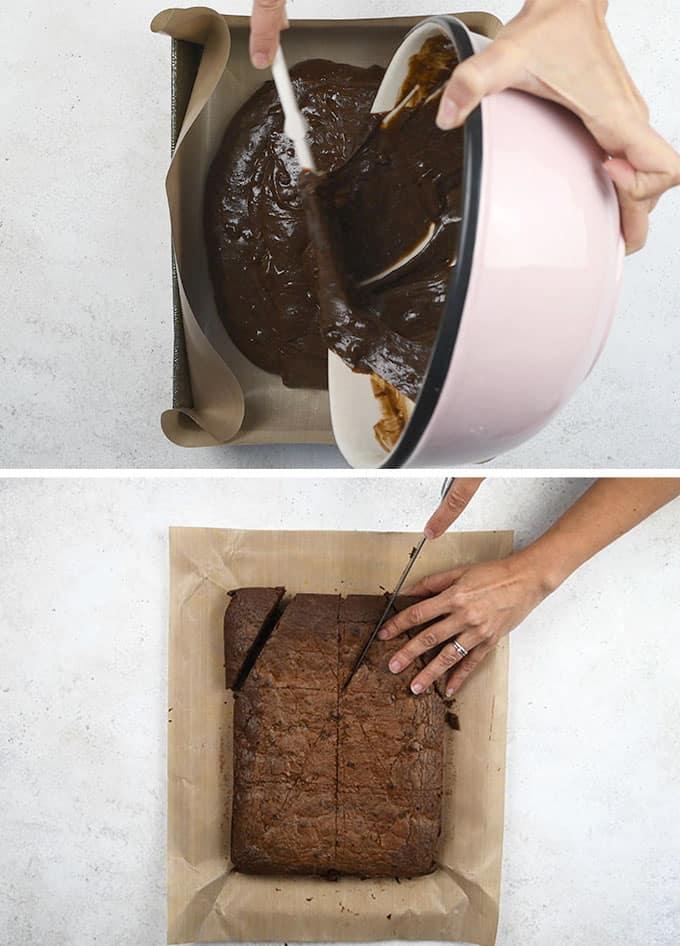 Making Christmas brownies step by step