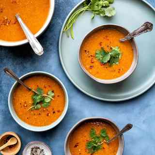 curried tomato and lentil soup