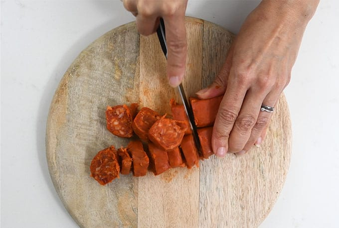 Soft cooking chorizo