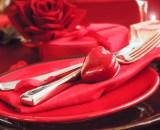 valentines table setting PHZS9MB - Roti de boeuf bardé