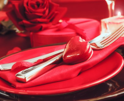 valentines table setting PHZS9MB - Menu St-Valentin coquelets