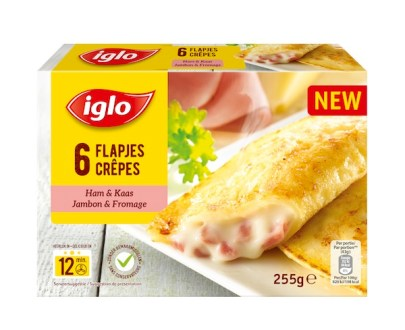 Crepes Jambon Fromage 255g - Crêpes jambon et fromage