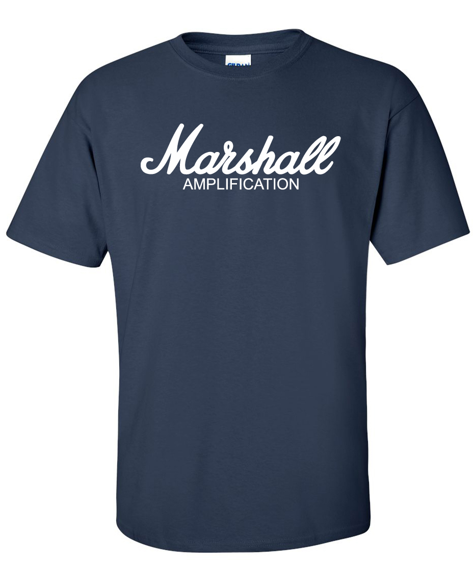 marshall amplification logo graphic t shirt supergraphictees. Black Bedroom Furniture Sets. Home Design Ideas