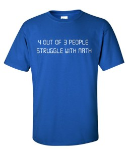 4 out 3 struggle with math royal blue