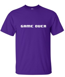 8 bit game over purple