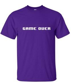 8 bit game over purple