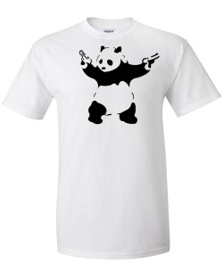 banksy panda white