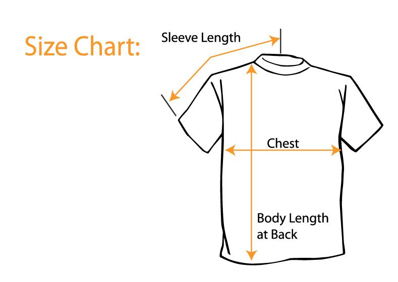T Shirt Sizing Chart Supergraphictees