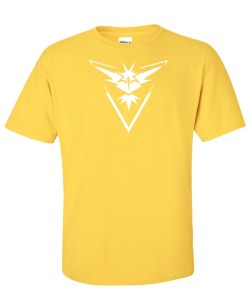 pokemon go  team instinct yellow