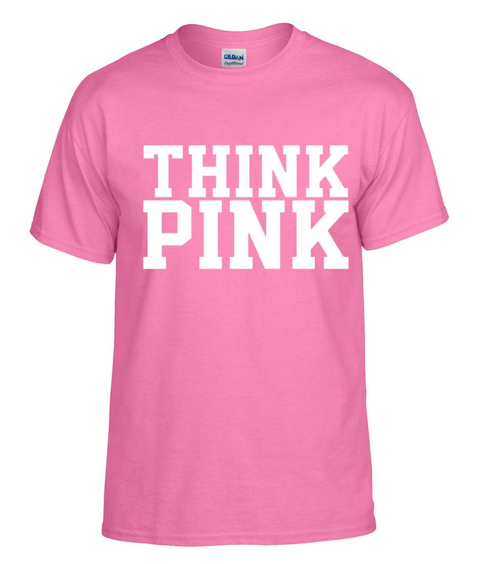 Think Pink Breast Cancer Awareness Logo Graphic T Shirt ...