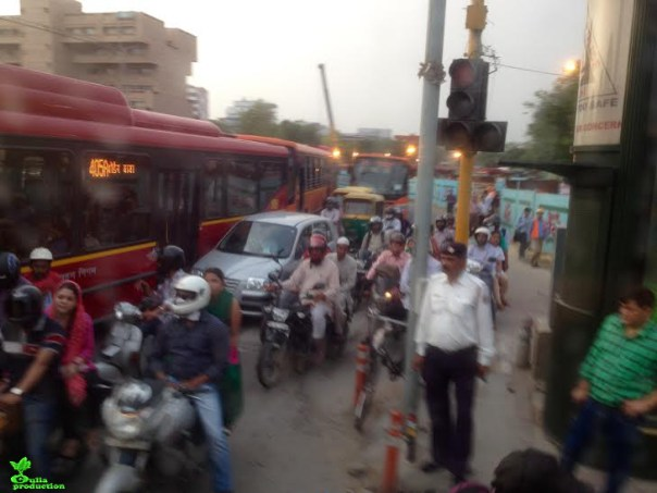 trafic in India