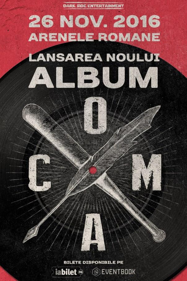 poster_album_COMA - 26 Noiembrie - Arenele Romane