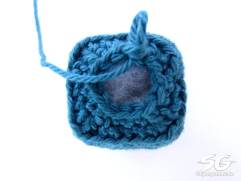 Crochet Cube Round 13 Top View
