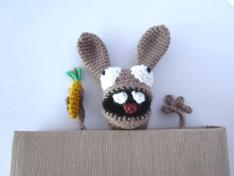 Crochet Rabbit Bookmark