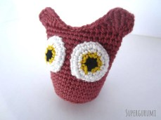 Sew On Owl Eyes Side View