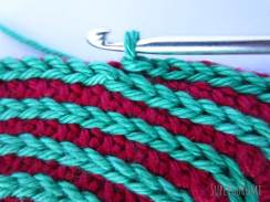 Square Crochet Coaster Slip Stitch Spiral Step 15